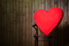A big heart in the chair Royalty Free Stock Image
