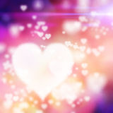 Big heart on colorful background. A big white heart and many small hearts on colored background Royalty Free Stock Images