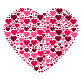 Big heart composed from small hearts Royalty Free Stock Images