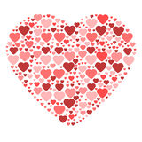 Big heart composed from small hearts Royalty Free Stock Photography