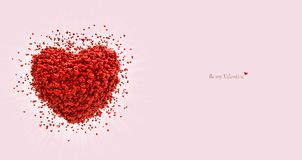 Big heart consisting of small hearts. Valentines day card. vector illustration