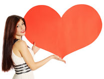 Big heart, copy space Stock Photo