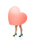 Big heart female legs Stock Image