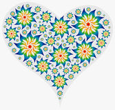 Big Heart filled with Mandalas. Big Heart filled with several Mandalas in Rainbow colors Royalty Free Stock Photography