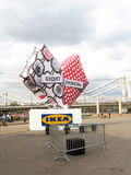 A big heart with IKEA banner. Royalty Free Stock Photography