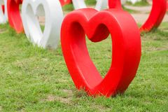 Big heart made from cement for decorative garden. Big heart made from cement for decorative garden in Thailand stock image