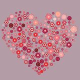 Big heart made of small flowers Royalty Free Stock Images