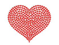 Big Heart made of small hearts without bg Royalty Free Stock Photos