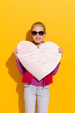 Big heart for my mom Stock Photography