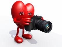 Big heart photographer Stock Image