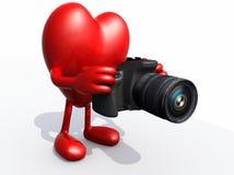Big heart photographer Stock Photos