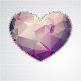 Big heart with polygonal geometric pattern Stock Image