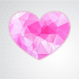 Big heart with polygonal geometric pattern Stock Images