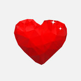 Big heart from polygonals Royalty Free Stock Image