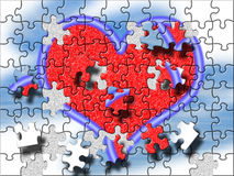 Big heart puzzle Royalty Free Stock Photos