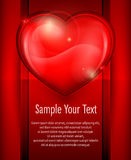 Big heart on red & text Stock Photography