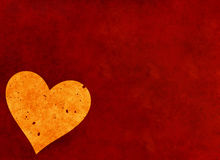 Big heart on red textured background. Valentine's day symbol Stock Images