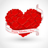 Big heart with ribbon Stock Images