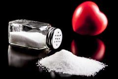 Big Heart and Salt Stock Photo