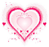 Big heart, vector Royalty Free Stock Photography