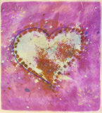 Big Heart in Yellow and Pink Royalty Free Stock Images