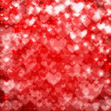 Big hearts red abstract background Sparkling Royalty Free Stock Images