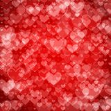 Big hearts red abstract background Royalty Free Stock Photos
