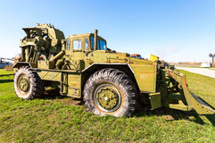 Big heavy construction bulldozer in Togliatti technical museum Royalty Free Stock Photo