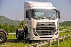 Heavy duty trucks used for delivery business. Big or heavy duty trucks used for a variety of delivery business operations Royalty Free Stock Photography