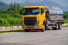 Heavy duty trucks used for delivery business. Big or heavy duty trucks used for a variety of delivery business operations Stock Images