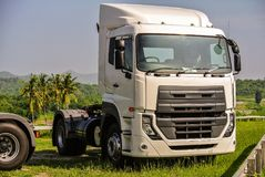 Heavy duty trucks used for delivery business. Big or heavy duty trucks used for a variety of delivery business operations Stock Photos