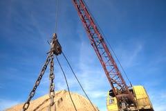 Big heavy excavator close up Royalty Free Stock Image