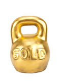 Big heavy weight of gold Royalty Free Stock Image