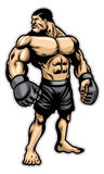 Big heavyweight muscle fighter Stock Photography