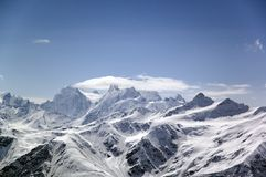 Big high mountain. Caucasus. Russia Royalty Free Stock Images