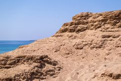 Big high sandy hill or barkhan Royalty Free Stock Images
