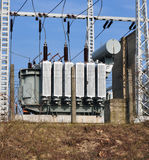 Big high voltage transformers Royalty Free Stock Photos