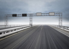 Big highway for speed traffic with blue sky Stock Photo