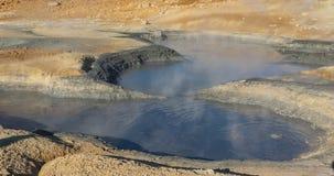 Big hole with hot mud - Myvatn area, Iceland. Stock Images