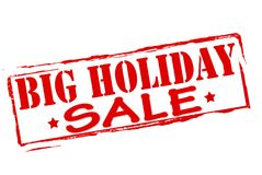 Big holiday sale. Stamp with text big holiday sale inside,  illustration Royalty Free Stock Images