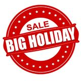 Big holiday sale. Stamp with text big holiday sale inside,  illustration Royalty Free Stock Photography