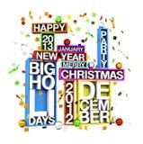 Big Holidays. Merry Christmas Happy New year Royalty Free Stock Photo
