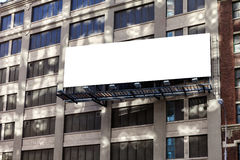Big, horizontal, billboard on the building wall. Royalty Free Stock Photography