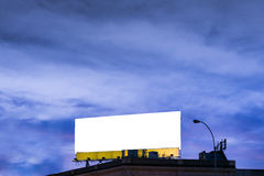 Big, horizontal, white, blank, billboard. Stock Photography