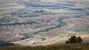 Big Horn basin. View over the Big Horn basin, Wyoming royalty free stock image
