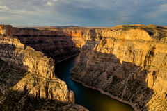 Big horn canyon at sunrise Stock Photography