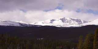Big Horn mountains, Wyoming. Snow capped Big Horn mountains. Near Buffalo Wyoming Royalty Free Stock Photo