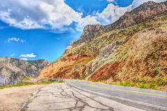 Big Horn Scenic Byway. Highway 14A near Lovell, Wyoming Stock Images