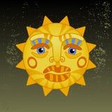 Big hot gold sun Royalty Free Stock Image