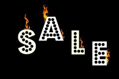 Big Hot Sale Sign Royalty Free Stock Image